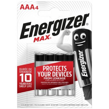 Pile Alcaline  Energizer LR03 Max (ex-Ultra +)  - Blister de 4