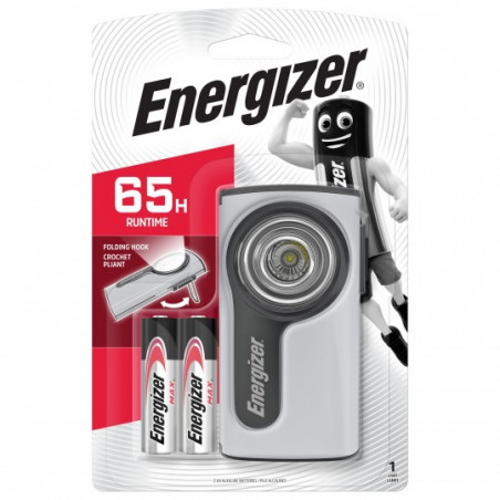 Boitier Compact LED Metal 2AA Energizer - 2 piles AA incluses - 632265 639828