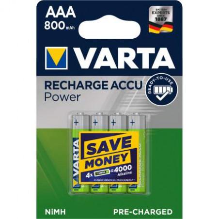HR3 - Accu Varta AAA 800mAh READY 2 USE blister de 4 - 56703 101 404