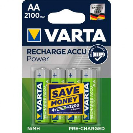 HR6 - Accu Varta AA 2100mAh READY 2 USE- blister de 4 - 56706 101 404