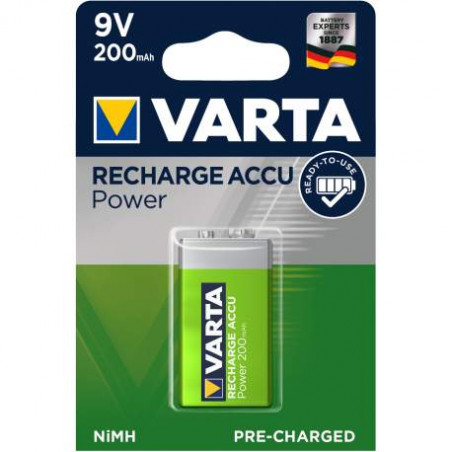 V7/8H - Accu Varta 9V 200mAh - 56722 101 401 - blister unitaire