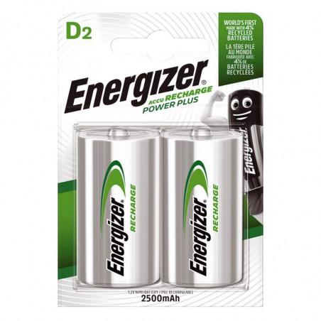 HR20 - Accu Energizer  Ni-Mh - Standard 2500mAh - Blister de 2 - ENERGIZER