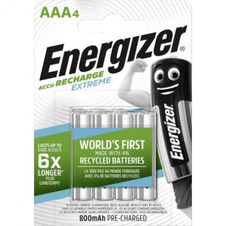 HR3 - Accus AAA Energizer Extreme Ni-Mh - 800mah - Blister de 4 - R2U