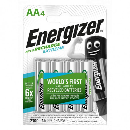 HR6 - Accus AA Energizer Extreme Ni-Mh - 2300mah - Blister de 4 - R2U