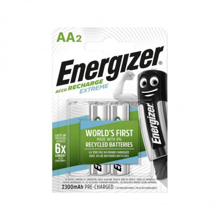 HR6 - Accus AA Energizer Extreme Ni-Mh - 2300mah - Blister de 2 - R2U