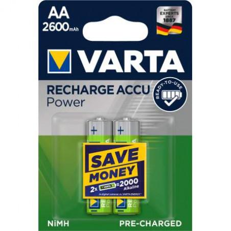 HR6 - Accu Varta AA 2600mAh  Professional Accus R2U - blister de 2 - 5716 301 402