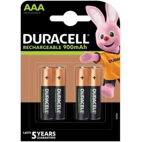 HR3 - Duracell PRECHARGED Accu Ni-Mh - 900 mAh - Blister de 4