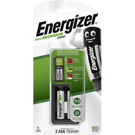 Chargeur Mini Energizer 2xAAA inclus 700mah - blister unitaire