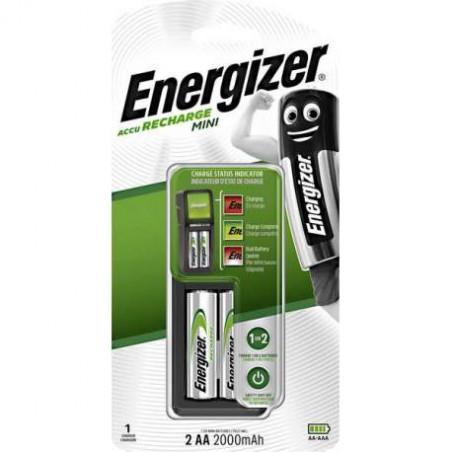 Chargeur Mini Energizer 2xAA inclus 2000mah - blister unitaire