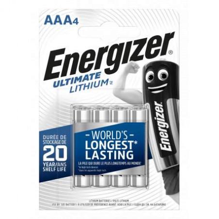 Pile LR3 L92 - AAA Ultimate Lithium Energizer - blister de 4