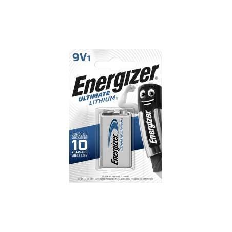 Pile lithium 9V - Energizer - L522 - blister de 1