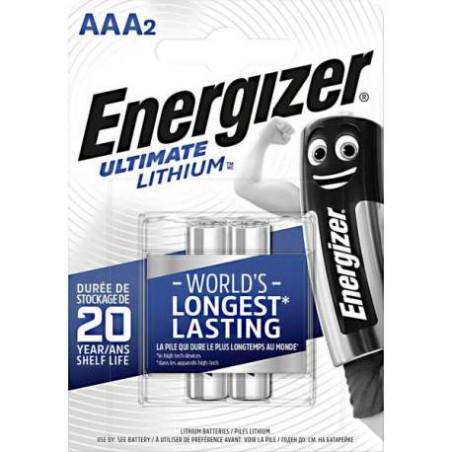 Pile LR03 -AAA Lithium Energizer - blister de 2