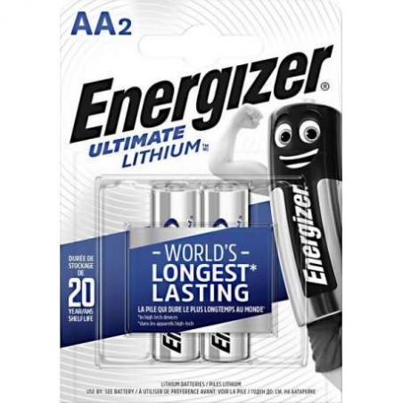 Pile LR6 -AA Lithium Energizer - blister de 2