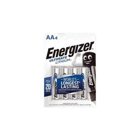 Pile LR6 L91 - AA Lithium Energizer - blister de 4