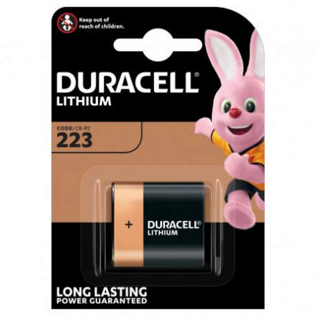Pile Lithium photo CRP2 duracell Ultra  6V DL223A - Blister Unitaire