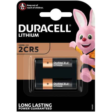 Pile photo 2CR5 Duracell Ultra DL245 - 3V Lithium - Blister unitaire