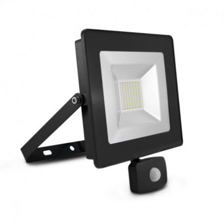 Projecteur LED Plat SMD 50 watt + detecteur - 4000K - 4400Lm - Vision EL - 80332