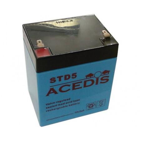 Batterie plomb 12V 5Ah  (L90xl70xH101) - STD5