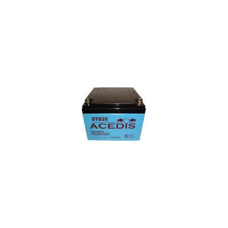 Batterie Plomb 12V 26.5Ah (175L*166l*125h) - STD26