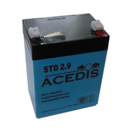 batterie Plomb 12V 2.9Ah (79L*55l*99h) - STD2.9