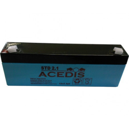 Batterie Plomb 12V 2.1Ah (178L*35l*66h) - STD2.1