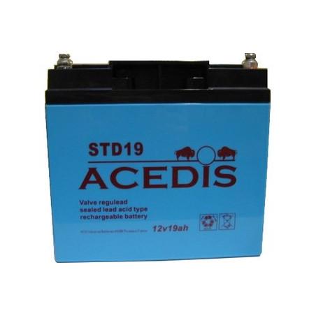 Batterie Plomb 12V 18Ah (181L*77l*167h) - STD19