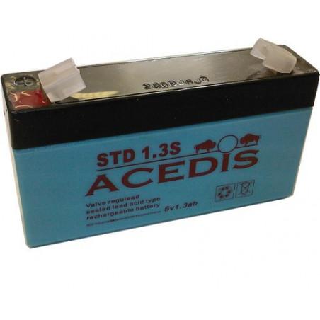 Batterie Plomb 6V 1.3Ah (97L*24l*52h) - STD1.3S - BATUL6-1.3