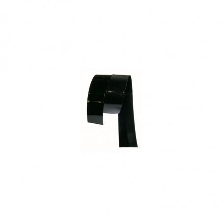 Gaine thermoretractable PVC Noire 65mm plat/41.4mm diam./0.15mm ep/au Metre