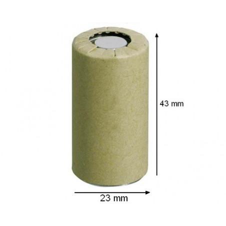 Accu industriel Nu format Sub C 23x43 mm Ni-Mh 3Ah papier Haute decharge