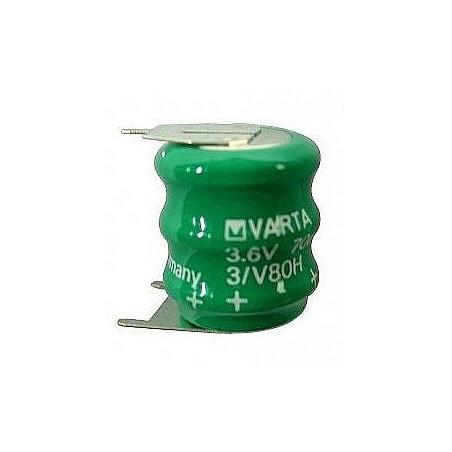 Accu Varta 3V80H - NiMh - 3.6V 2 picots + / 1 picots -