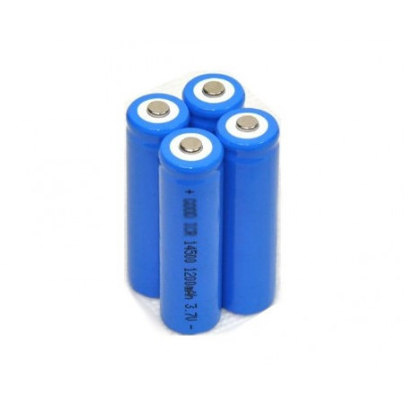 Accu lithium Ion 14500 avec teton sans protection 3.7V 1200 mah  - 50x14mm