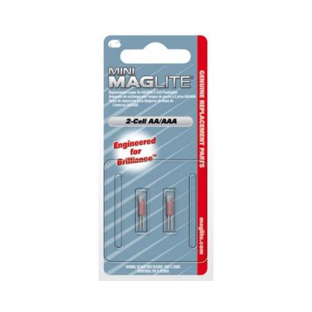 Ampoule pour Maglite 2 pile AA/ 2 AAA blister de 2 - LM2A001