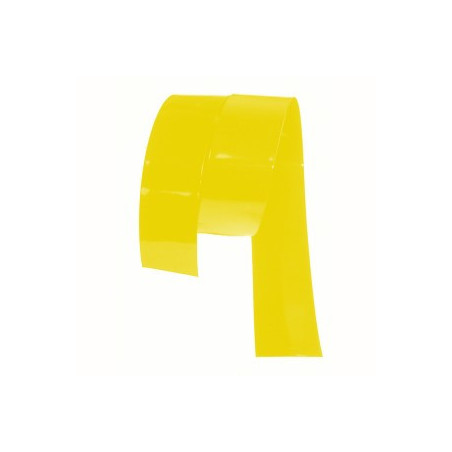Gaine thermoretractable PVC jaune 27mm plat/17.2mm diam/0.13mm ep/ au metre