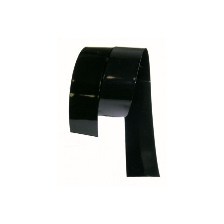 Gaine thermoretractable PVC noire 140mm plat/89.14mm diam./ 0.2 mm ep/Au Metre