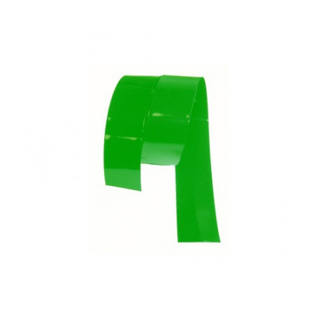 Gaine thermoretractable PVC verte 21.6mm plat / 13.75mm diam./0.1mm ep/ au metre