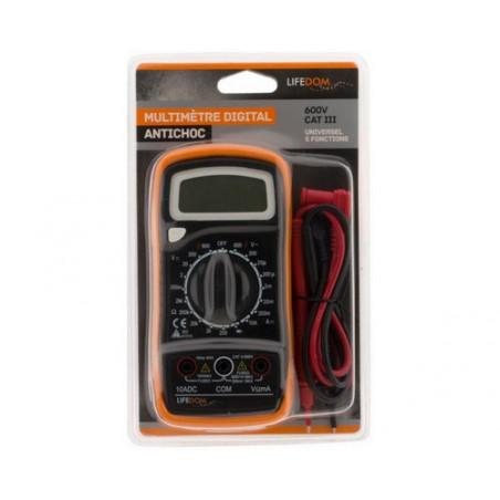 Multimetre digital 17 calibres piles incluses - 5 fonctions - 161072