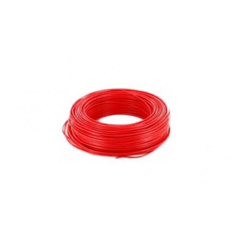 Fil de cablage electrique Rouge PVC 0.75mm²  11A - au metre