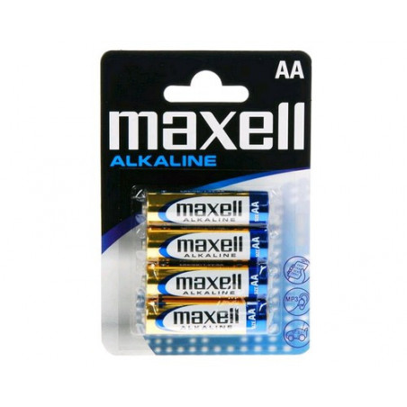 Pile alcaline Maxell LR06 - AA blister de 4