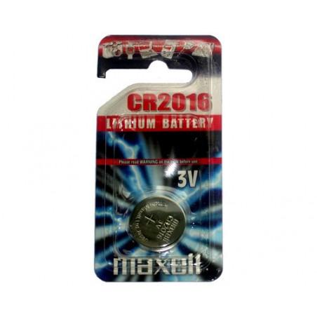 Pile bouton  lithium CR2016 maxell