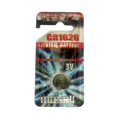 Pile bouton  lithium CR1620 maxell