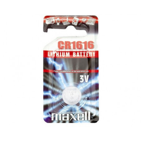 Pile bouton  lithium CR1616 maxell