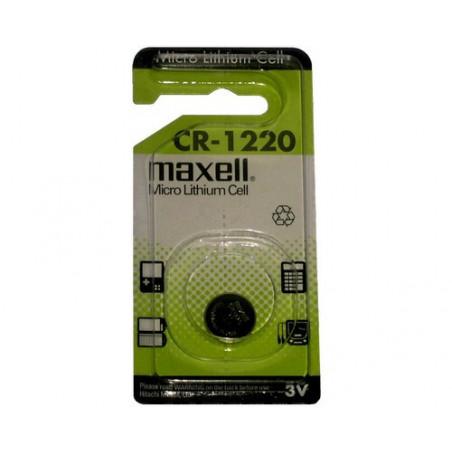 Pile bouton lithium CR1220 Maxell