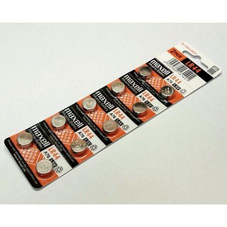 (Pack) Pile bouton  alcaline LR44 maxell unitaire / par carte de 10