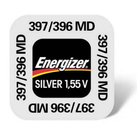 Pile de Montre Energizer oxyde d'argent SR59 - 396/397 - unitaire / boite 10