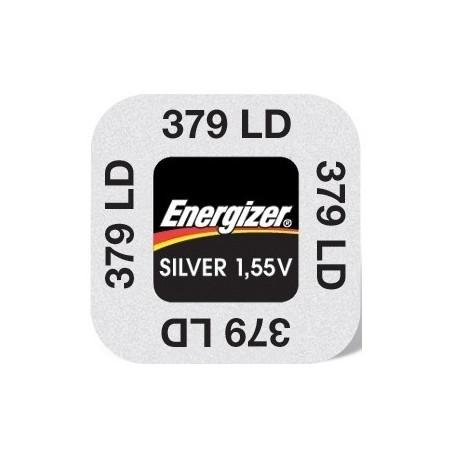 Pile de Montre Energizer oxyde d'argent SR521SW - 379 - unitaire / boite de 10