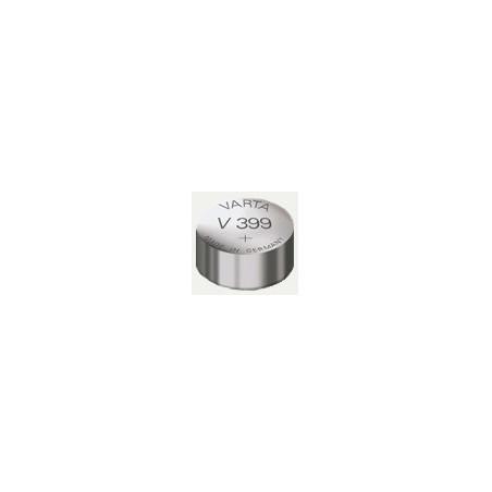 V399 - pile de Montre Varta oxyde d'argent SR57 - 399 101 111 - unitaire / boite de 10