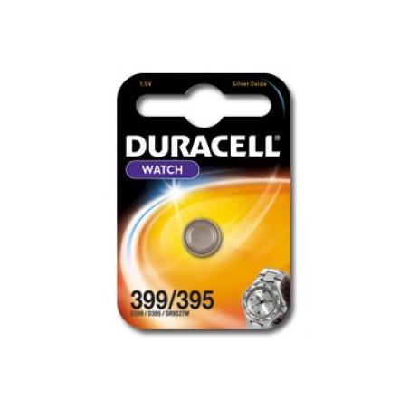 Pile de montre oxyde d'argent Duracell 395/399 SR926SW Blister unitaire