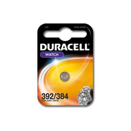 Pile de montre oxyde d'argent Duracell 392/384 SR41SW Blister unitaire