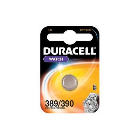 Pile de montre oxyde d'argent Duracell 389/390  SR54 Blister unitaire