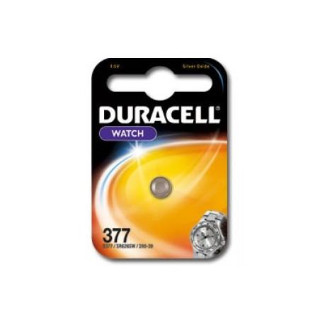 Pile de montre Duracell 377  SR626SW Blister unitaire